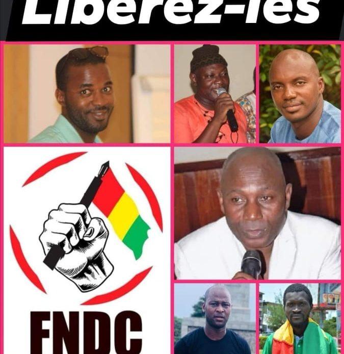Les membres du FNDC arrêtés ont été  inculpés et mis sous mandat de dépôt