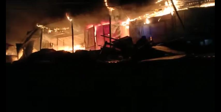 Marché Madina: une cinquantaine de boutiques et leurs contenus ravagée par un incendie