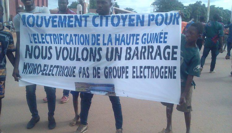 Kankan : le mouvement pour l'électrification de la Haute Guinée siffle la fin de la trêve