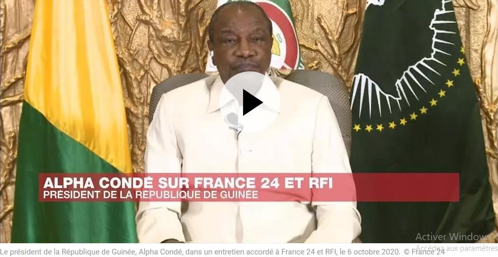 """""""Je ne suis pas un dictateur, je suis un démocrate"""", dit Alpha Condé, président guinéen"""