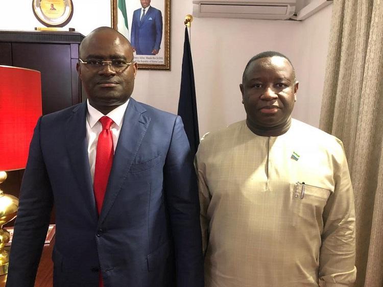 Freetown:  KPC, PDG du Groupe GUICOPRES reçu en audience par le Président de la République de Sierra Leone